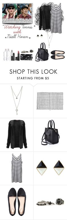 """☆ Watching tennis with Niall Horan ☆"" by sarkata-boo-bear ❤ liked on Polyvore featuring GUESS, Rebecca Minkoff, Hope, Bershka and NARS Cosmetics"