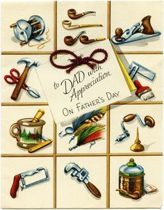 Old Design Shop ~ free printable Father's Day Card
