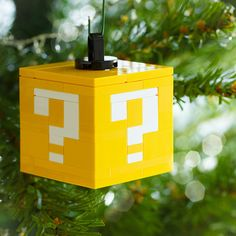 Build It Yourself Question Block Ornament | Community Post: 12 DIY Decorations For A Geektastic Holiday