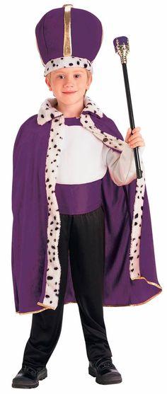 King Robe and Crown Set Kids Costume