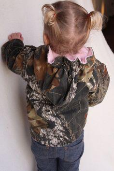 Girls coat baby girl camo MossyOak BU fleece by haddygrace on Etsy, $65.00