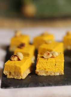 Cheesecake au potimarron et aux noisettes pour l'apéritif