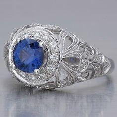 Edwardian Ceylon Sapphire Engagement Ring