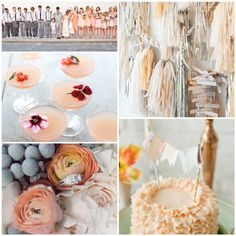 4606baf027bb peach gold silver grey wedding   glitterweddings.com Gray Wedding Colors