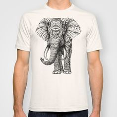 Ornate+Elephant+T-shirt+by+BIOWORKZ+-+$22.00