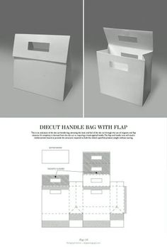 & DIELINES: The Designer's Book of Packaging Dielines Diecut handle Bag with Flap - Packaging & Dielines: The Designer's Book of Packaging DielinesDiecut handle Bag with Flap - Packaging & Dielines: The Designer's Book of Packaging Dielines