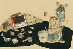 Oupilaille et le poil de dragon 2007 by Manon Gauthier, via Behance
