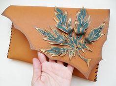 Cannabis leaf clutch bag Marijuana purse Hippie by spiculdegrau