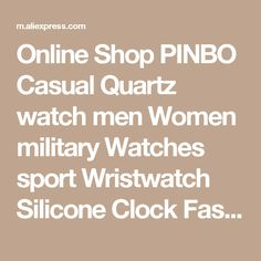 masculino on sale at reasonable prices, buy PINBO Casual Quartz watch men Women military Watches sport Wristwatch Leather Clock Fashion Quartz Wristwatch Relogio Masculino from mobile site on Aliexpress Now! Sport Watches, Watches For Men, Office Stationery, Men And Women, Fountain Pen, Quartz Watch, Online Shopping, Clock, Pen Pals