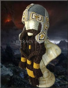 Ravelry: Lord of the Rings Inpsired Dwarf Gimli Helmet Only Pattern pattern by Brandy Tracy