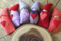 Valentine Gnome Baby Valentine's Day Waldorf Toy von MamaWestWind, $10,50