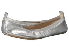 Yosi Samra Samara Women's Flat Shoes Silver 2