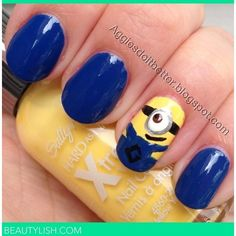 Despicable Me Minion Nails