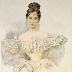 A portrait of Natalya Goncharova Pushkina (Alexander Brullov-1831). I'm grateful for the opportunity to share her story in THE LOST SEASON OF LOVE AND SNOW. #historicalfiction #thelostseasonofloveandsnow #russianhistory #pushkin #historicalhotties