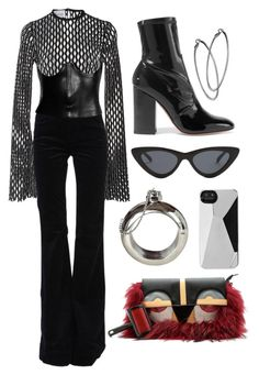 """""""TEXTURED STYLE"""" by mimiih ❤ liked on Polyvore featuring Beaufille, J Brand, Tom Ford, Le Specs, Valentino, Mystic Light, Marc by Marc Jacobs and Cynthia Rowley"""