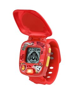 With this Paw Patrol with this VTech Marshall Learning Watch no job is too big, no pup is too small! It's a great wearable gadget that helps kids learn to read the time and has 12 interchangeable digital clock faces, as well as alarm, timer and stopwatch functions. Four games are included to introduce and reinforce the learning of matching, problem solving, animals, basic addition and subtraction, while progressive learning levels mean they'll always be able to find a challenge. From helping