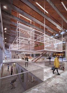 Kraftwerk Competition, Louvre, Urban, Architecture, Building, Modern, Interior, Design, Projects