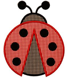 Lady Bug Applique Design Sizes hoop This design also comes with a zigzag finish in each size Applique Templates, Applique Patterns, Applique Designs, Quilt Patterns, Sewing Patterns, Machine Embroidery Applique, Applique Quilts, Motifs D'appliques, Lila Baby