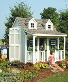 Another great find on #zulily! Backyard Cottage Floored Playhouse & Porch Kit #zulilyfinds.  $3499.99. I'd love to have this for the cats in the garden!