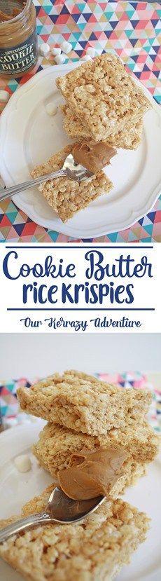 Cookie Butter Rice Krispie Treats Recipe- Must Make Dessert! So Easy!