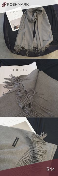 🆕 Cashmere long scarf Brand new. Cashmere scarf, warm, soft and comfortable. Very versatile and chic. Available in black and gray Accessories Scarves & Wraps