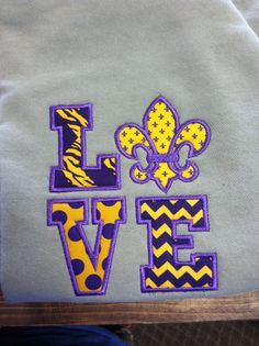 LSU love colors sweatshirt