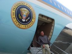 Just before boarding and touring Air Force 1