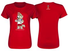 Russia Red Women 2018 FIFA World Cup Zabivaka Mascot T-Shirt