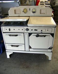 o keefe merritt vintage gas stove top clock timer drop in salt 1936 o keefe merritt