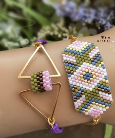 off loom beading Bead Loom Designs, Bead Loom Patterns, Jewelry Patterns, Bracelet Patterns, Beading Patterns, Beading Ideas, Beading Supplies, Bead Jewellery, Beaded Jewelry