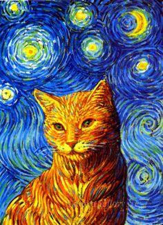 Gallery.ru / Фото #4 - Если бы Ван Гог писал котов... - Natalya55