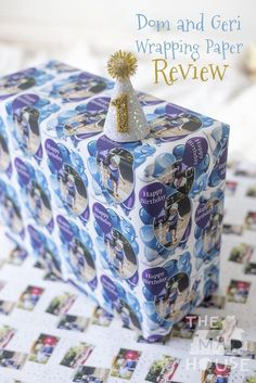 Personalised Party Crafts: Dom and Geri Wrapping Paper How wonderful to have personalised wrapping paper.  You can use this wrapping paper for so many different things.  Why not take a look and see,