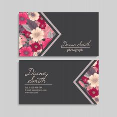 Estilo Floral, Aesthetic Hair, Flower Doodles, Brand Identity Design, Floral Style, Visual Identity, Business Card Design, All Design, Fashion Business Cards