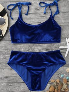 SHARE & Get it FREE | Velvet Padded Bralette Bikini Set - Sapphire Blue LFor Fashion Lovers only:80,000+ Items • New Arrivals Daily Join Zaful: Get YOUR $50 NOW!
