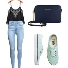 Vans by tania-alves on Polyvore featuring H&M, Vans, women's clothing, women's fashion, women, female, woman, misses and juniors