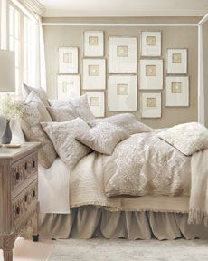 Like the mostly white wall grouping and the soft palette