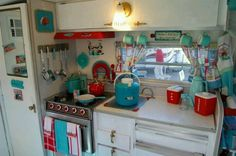 Cute trailer decor!                                                                                                                                                     More