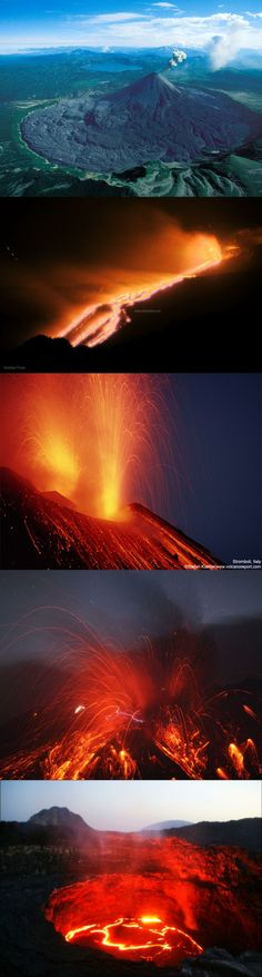 Magma from Volcano Etna