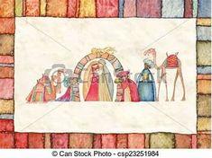 Religious Christmas Cards, Nativity, Stock Photos, Painting, Image, Art, Art Background, The Nativity, Painting Art