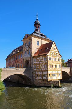 #Old #Town Hall  #Bamberg  #river #Regnitz  #Bavaria  #Germany