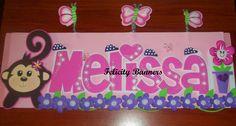 Banner en foami Monkey Love