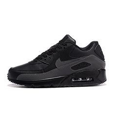 newest 6490f f792f NIKE AIR MAX 90 ESSENTIAL Mens Indoor Court Shoes - Black