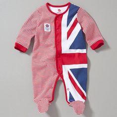 Team GB Raglan Sleepsuit, Red