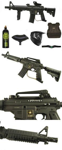 Marker Packages 47248: Us Army Alpha Black Elite Paintball Marker Gun 3Skull Deluxe Armor Set -> BUY IT NOW ONLY: $214 on eBay!