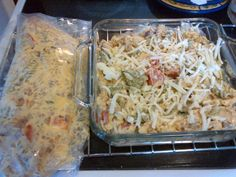 My iron chef winning entree            Club Casserole  1lbspiral pasta cooked  4 cups cooked cubed chicken   1cup cooked bacon crumbled  1cup milk  3/4cup mayonnaise  4 tomatoes chopped and seeded  1 cup chopped spinach (optional)  2 cups shredded cheese  3/4sour cream  1 box Sunset Gourmet Chessey Cheddar Broccoli soup dry mix  Combine all ingredients in a bowl mix well not cheese. pour into a baking dish sprinkle cheese. bake @ 350 for 40 mins. made half & froze the rest for another night