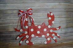 Crab Wooden Door Hanger Nautical Wooden by Southernismboutique