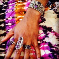 ॐ It's been an Amethyst & Violet kind of day ॐ www.ohmboho.com ☮ #ohmboho #jewellery #jewelry #tibetan #silver #amethyst #healing #crystal #tiedye #boho #bohemian #hippy #hippie #ethnic #gypsy #native #indie #inspiration #style #fashion