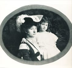 Mary Benjamin Rogers w/ daughter Mary Millicent Abigail Rogers. Millicent (named for her aunt who died at 17) was born to Mary Rogers and Col. H H Rogers II in 1902. Her grandfather, Henry Huddleston Rogers (I), is the main mind behind U.S. Steel and Anaconda Copper, and co-founder (with John D. Rockefeller) of Standard Oil. The cherished only daughter of the family will grow up with a brother, Henry, Jr.