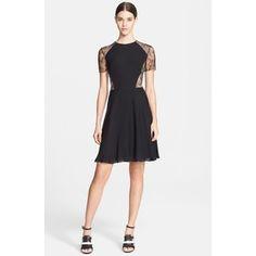 Women's Jason Wu Floral Lace & Silk Georgette Dress