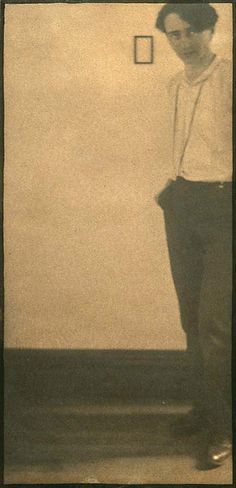 Self portrait of Edward Steichen, photographer, 1898